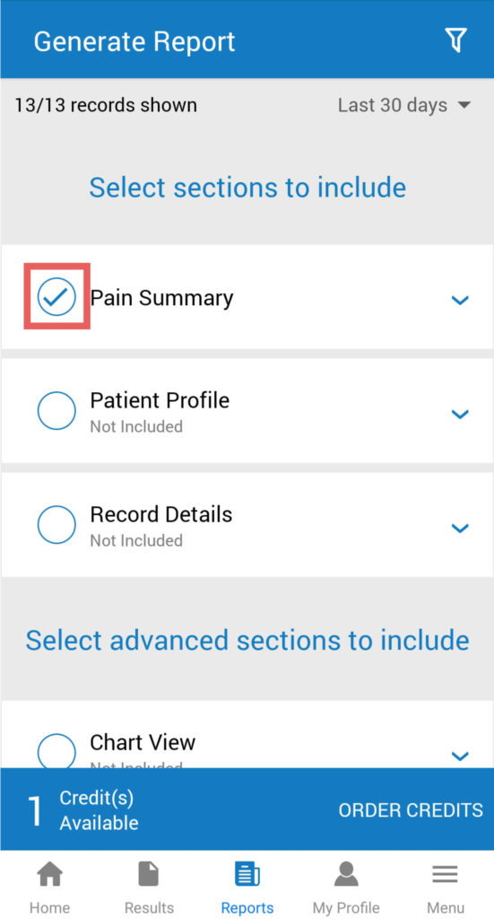 manage my pain app tutorial screenshot 1